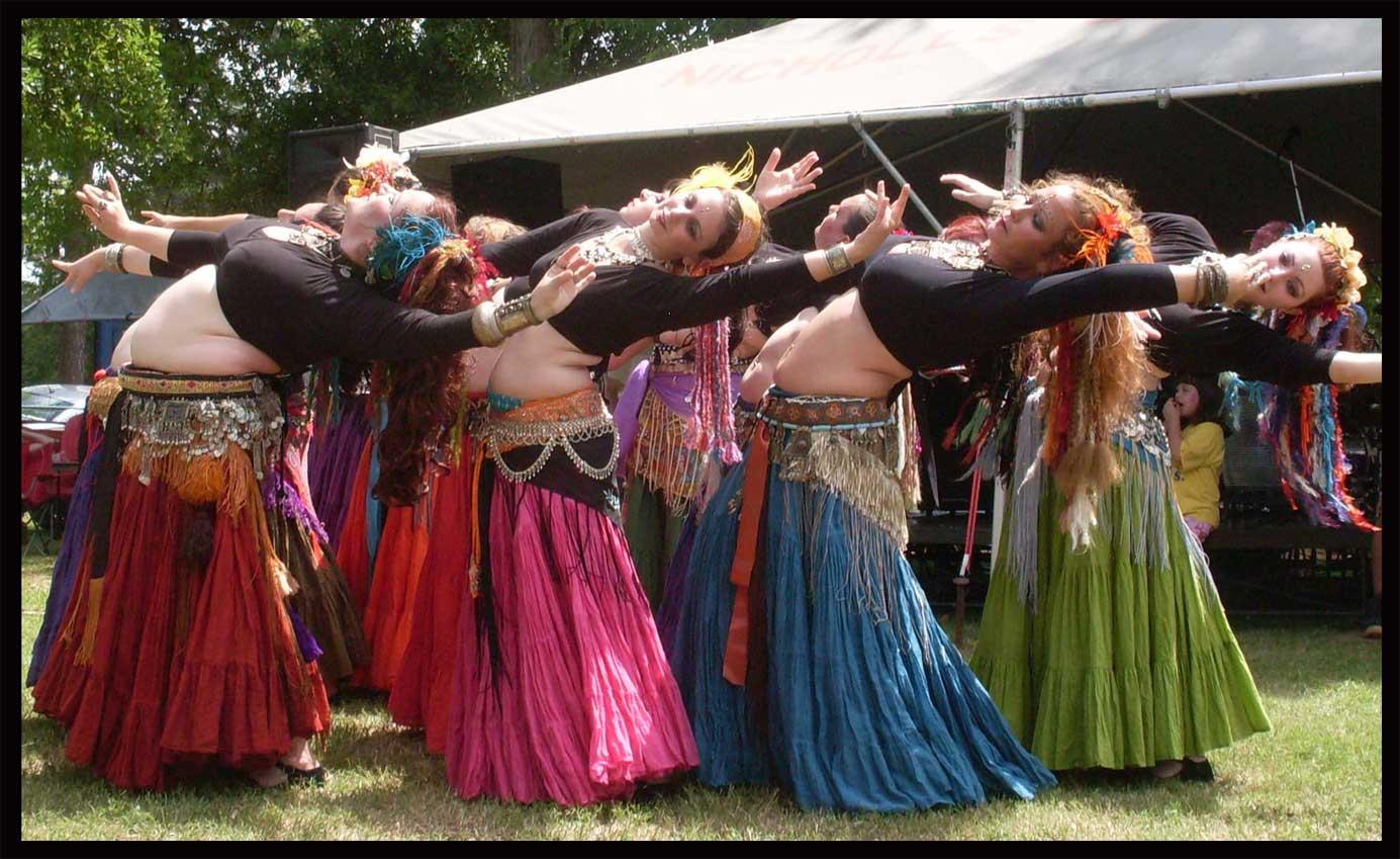 Flying Skirts Tribal Belly Dance Costumes Full Cotton Skirt