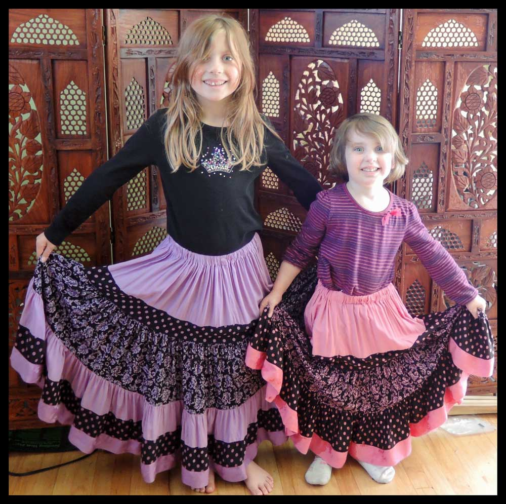 Flying Skirts Tribal Belly Dance Costumes Girls Fabulous