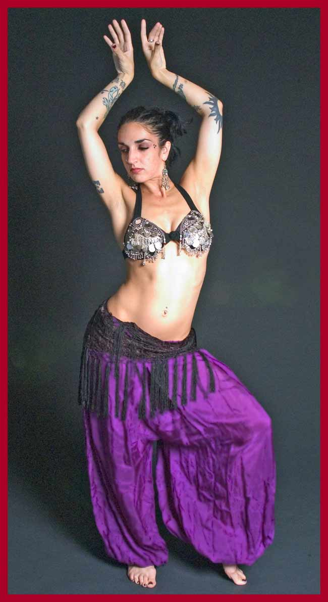 Flying Skirts Tribal Belly Dance Costumes Silk Bloomers