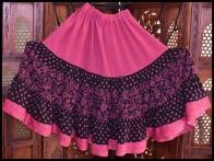Girls Fabulous Floral Dot Skirt-1