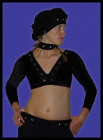 Long Sleeved Black Diamond Choli-2