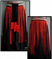 Cowrie Long Fringe Belt