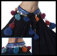 Raj Coin Tassel Belt